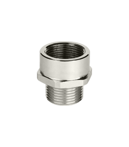 Nickel Plated Adapter Enlarger Ex d/e IP66 - IP68 Atex · Glakor