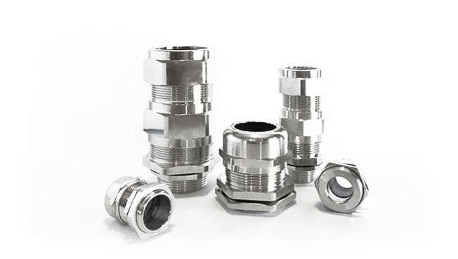 Metric Nickel Plated Cable Glands Atex Unarmoured Ex d IP68 · Glakor