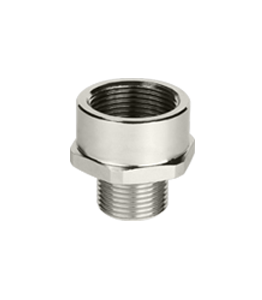 Atex Nickel Plated Enlarger Ex d/e Metric Thread IP66 - IP688 · Glakor