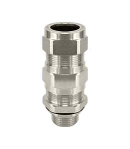 NPT Nickel Plated Double Cable Glands Armoured Atex Ex d/e IP68 · Glakor
